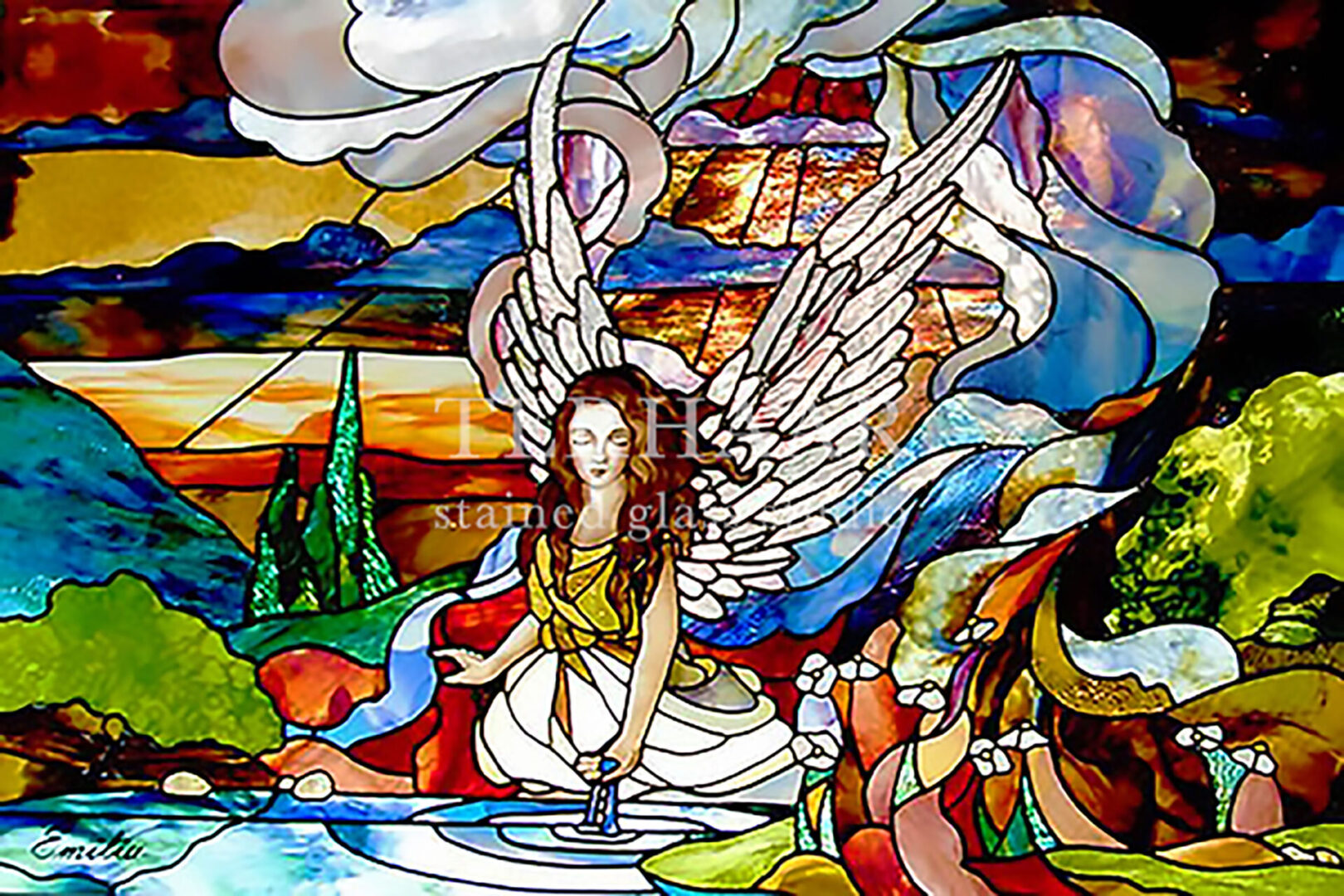 stained-glass-art_angel-by-still-water_stained-glass-window_residential_terhaarglass.com