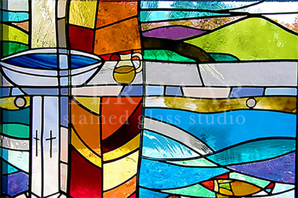 stained-glass-art_baptism_abstract_stained-glass-window_house-of-worship_terhaarglass.com