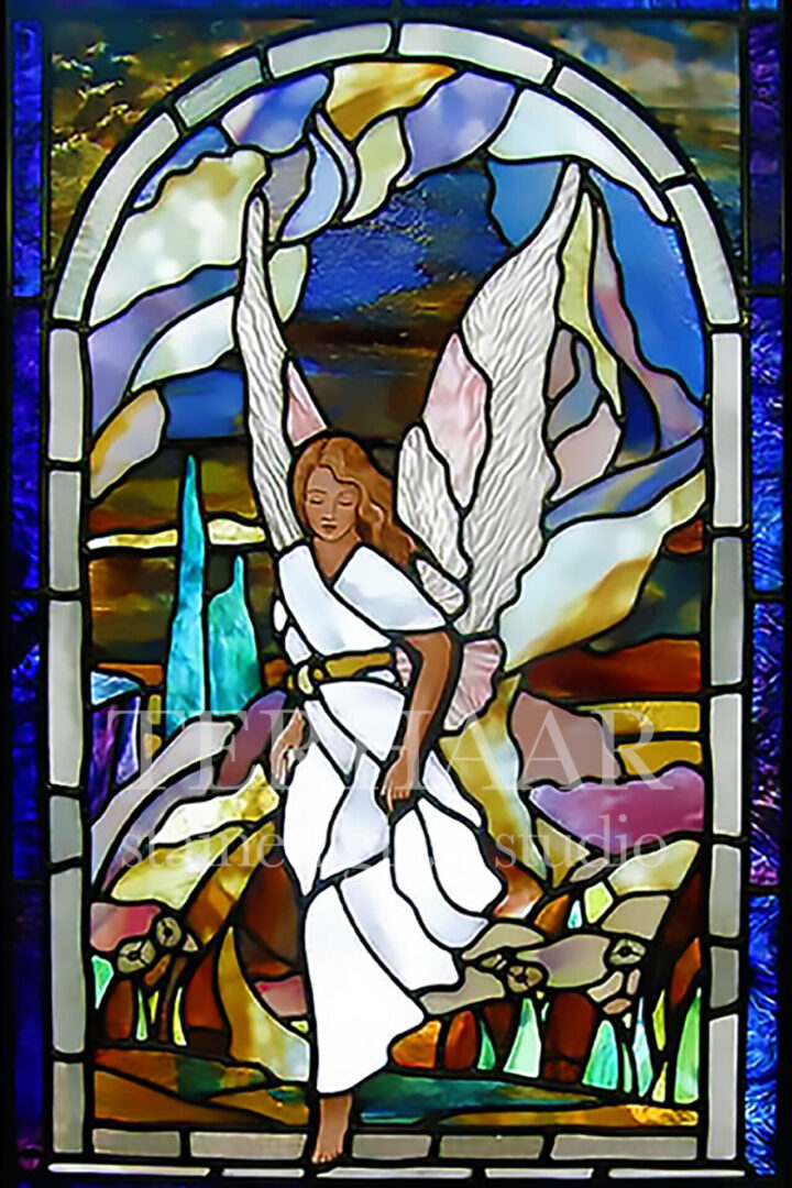 stained-glass-art_angel-stepping-out_stained-glass-window_residentail_terhaarglass.com