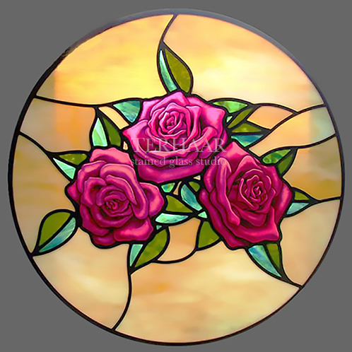 stained-glass-art_three-roses_stained-glass-window_residential_terhaarglass.com