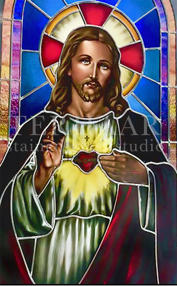 stained-glass-art_sacred-heart-of-jesus_stained-glass-window_house-of-worship_terhaarglass.com