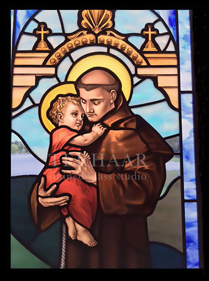 stained-glass-art_st-anthony_stained-glass-window_house-of-worship_terhaarglass.com