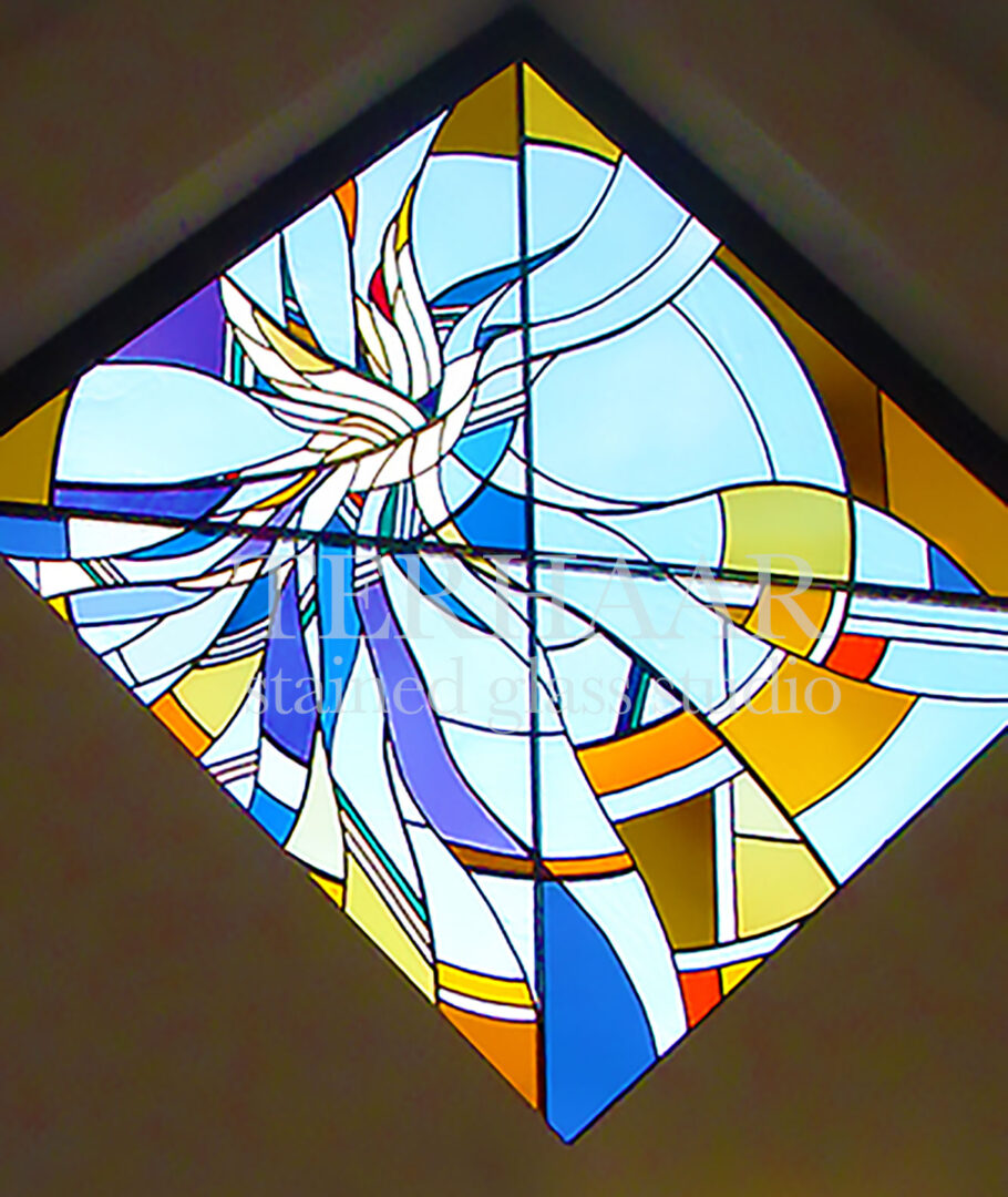 stained-glass-art_diamond-dove_stained-glass-windows_house-of-worship_terhaarglass.com