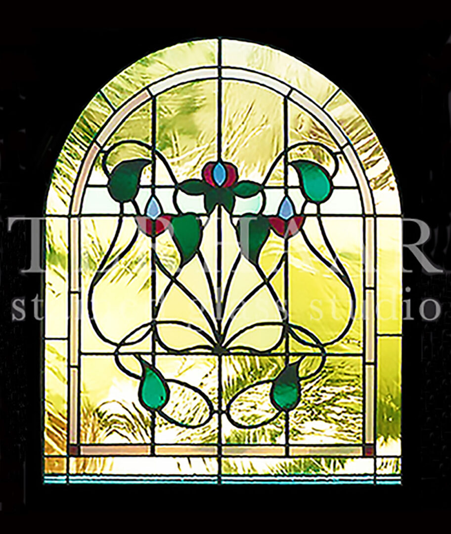 stained-glass-art_flowers_arch-stained-glass-window_residential_terhaarglass.com