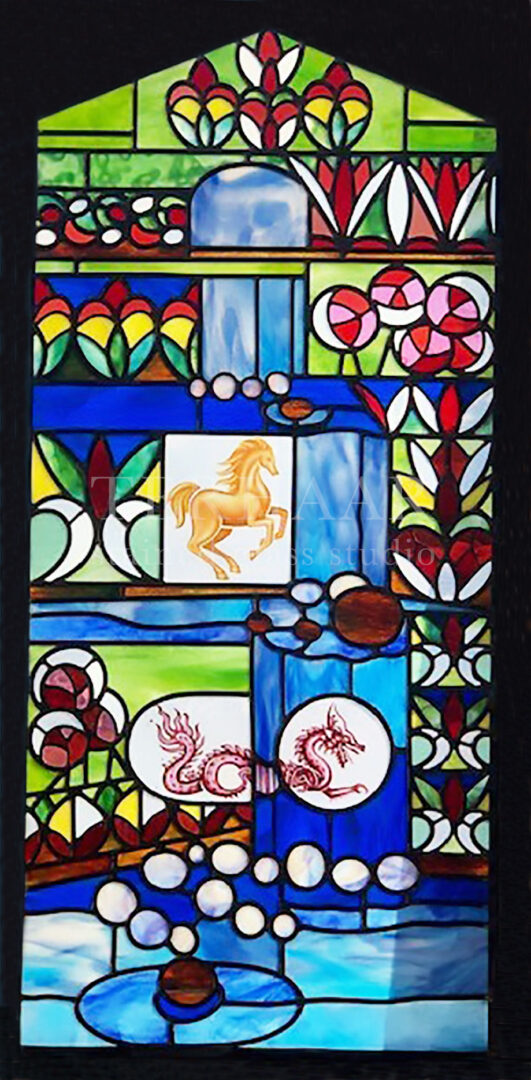 stained-glass-art_chinese-zodiac_abstract_stained-glass-window_residential_gallery-page_terhaarglass.com